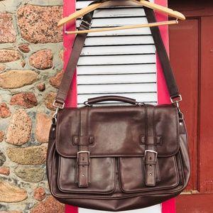 AUTHENTIC Older Coach Men's Leather Messenger Bag